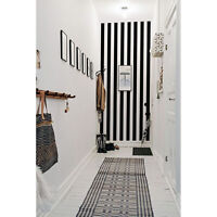 Stripe Black and White Pattern Non-woven wallpaper Home wall mural Decal