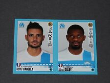 N°408 409 CABELLA / DIABY OLYMPIQUE MARSEILLE OM PANINI FOOT 2016-2017 FOOTBALL