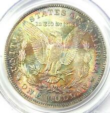 1887 Morgan Silver Dollar Toned $1 - Certified PCGS MS64 - Rainbow Toning Coin!
