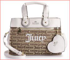Juicy Couture Designer Heart Logo Satchel Crossbody Bag Purse -White Tan ❤️NEW❤️