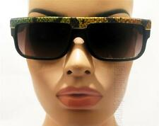 Flat Top Wayfarer Snake Felt Sunglasses Smoke Lens KISS Black RB 21TK