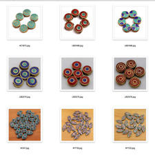 Silver Plated Brass 500 Beads Wholesale Lot Inlaid Coral Turquoise Tibetan Nepal