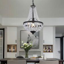 Modern LED Crystal Chandelier French Empire Pendant Lamp Ceiling Lights Hanging