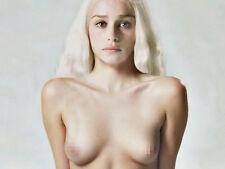 "EVAN 017 Emilia Clarke - Game of Thrones Daenerys Targaryen 19""x14"" Poster.JPG"