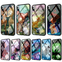 Bambi Pocahontas Tinkerbell Trolls Poppy Tempered Glass TPU Case for iPhone XS