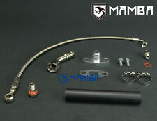 Turbo Oil Feed & Return Drain Line Kit for Nissan RB20DET RB25DET (OE T3 Turbo)