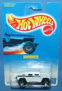 Hot Wheels Hummer Police White Die Cast 1992 Collector # 188