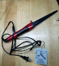 Remington Silk Ceramic Curling Wand, Hot Iron Curler, Red