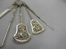 beautiful old chinese export silver chatelaine Silber / silver hallmarked