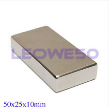 1X Rectangular Block Magnet 50mm x 25mm x 10mm Rare Earth Neodymium No. 1710