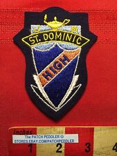 CANADA PATCH Maybe A Quebec School ~ J M ST. DOMINIC HIGH CREST SHIELD LAMP 5NB6