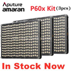 Aputure Amaran P60x Led Video Panel Light 3-Light Kit Photogrpahy Fill Lighting