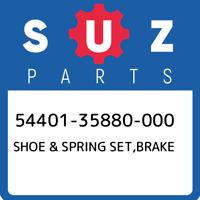 54401-35880-000 Suzuki Shoe & spring set,brake 5440135880000, New Genuine OEM Pa