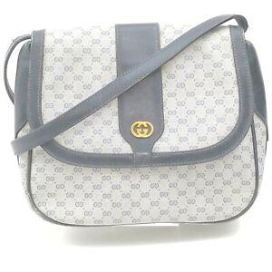 Gucci Shoulder Bag GG Supreme Navy Blue PVC 1519816