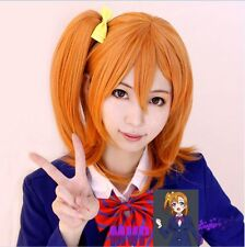 Lovelive! Love Live! Kousaka Honoka Styled Medium Orange Hair Cosplay Wig  @50