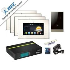 New 4 Monitor Residential Commercial Property Video Intercom Security System Kit