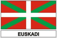Autocollant sticker drapeau  basque pays euskadi
