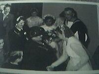 postcard size r/p old undated wedding sailor bride meet guests creased corner