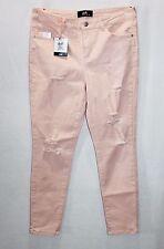 Dotti Brand Soft Pink Mid Rise Supertube Crop Denim Jeans Size 14-L BNWT #SL118