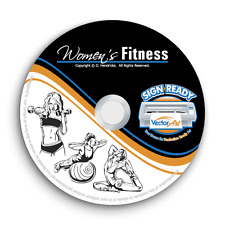 WOMENS FITNESS CLIPART-VECTOR CLIP ART-VINYL CUTTER PLOTTER+T-SHIRT GRAPHICS CD