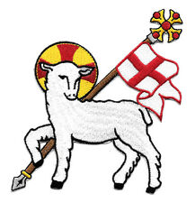 Lamb Of God - Agnus Dei - Church - Vestment - Embroidered Iron On Applique Patch