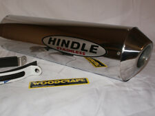 "Hindle 18"" long for 2"" pipe, Oval Polished SS Muffler Stealth Left- 753S-1820SSL"