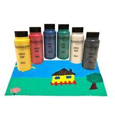 Classmates 500ml Acrylic Paint Assorted/Single Colours and Paint Brush Packs