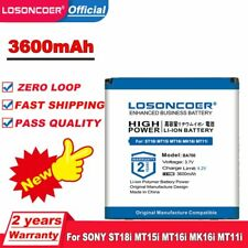 LOSONCOER 3600mAh BA700 Battery For SONY ST18i MT15i MT16i MK16i MT11i ST21i ST2