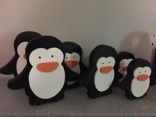 Freestanding Personalised Wooden Penguin , Handmade , Christmas ,15cm