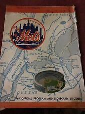 RARE 1967 New York Mets Program San Francisco Giants Juan Marichal Shutout Shea