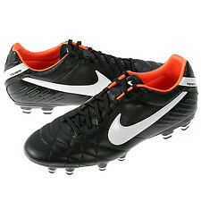 Nike Tiempo Mystic IV FG LEATHER 454309-018 Black Football Soccer Cleats 6.5