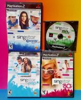 Singstar '80s '90s Country + Pop -PS2 PlayStation 2 Lot 4 Games NO MIC Sing Star