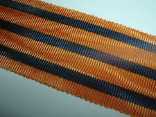 MEDAL RIBBON-BRITISH SILK RIBBON FOR THE SOUTH AFRICA CO MEDAL SUPERB QUALITY
