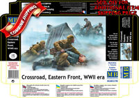 Master Box 35190 WWII era Crossroads Eastern Front, Soviet & German Soldier 1/35