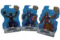 "Marvel Avengers Bend And Flex Action Figures 6"" Flexible Toys Bundle Set of 3"