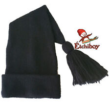 Voyageur Noir Black Toque Tuque Hat Cap Etchiboy Historical Alpaca Alpaga Wool