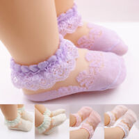 Baby Girls Soft Socks Cotton Lace Breathable TUTU Socks Frilly Ankle Socks 0-5Y
