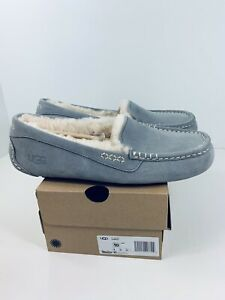 UGG Ansley Light Grey Moccasin Slippers Indoor Outdoor Womens Size 10 New