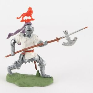 Foot Knight with Halberd, Red Lion III, Swoppets Knight by Britains of England