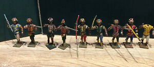 CBG Mignot: Native American Warriors. Nicely Repainted. Early Pre War Figures