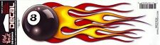 Sticker FLAMING 8-BALL gauche - Made in USA - Style BIKER HARLEY
