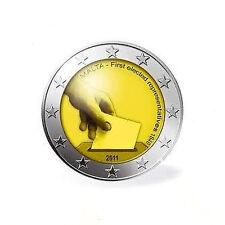 MONETA 2 euro commemorativo 2011 MALTA fdc Malte Prime Elezioni 1849