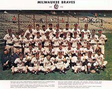 Milwaukee Braves 1954 (Hank Aaron Rookie Year), 8x10 Color Team Photo