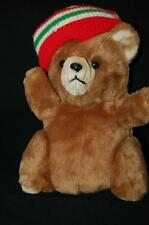 Christmas Bear Vintage Prestige Plush Stuffed Toy Corp Sweater Hat Korea  11""