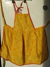 NEW Kitchen Apron 100% Cotton Label 3 Pockets Soviet Vintage Latvia 1989