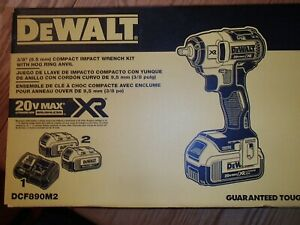 DEWALT 20V MAX Lithium-Ion Cordless 3/8in. Compact Impact Wrench Kit — Hog Ring