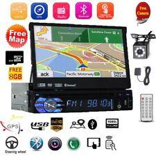 "7"" 1 DIN Autoradio GPS Bluetooth Navi Stereo Player MP5 Retractable Écran Tactil"