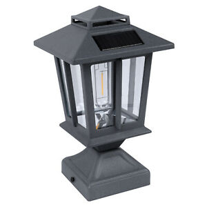 Outdoor Solar Post Light Exterior Post Lantern with 3.5 Inch Pier Mount Base