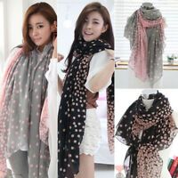 Women Girls Chiffon Fashion Scarf Wrap Neck Warmer Soft Long Shawl Stole Scarves