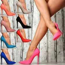 Neu SeXy Luxus Pumps Damen Spitze Schuhe Party High Heels Stilettos NEON PINK